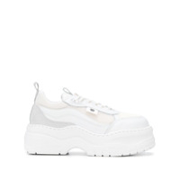 Chiara Ferragni Platform Lace-Up Sneakers - Branco