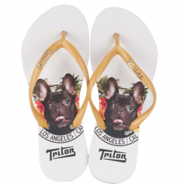 Chinelo Dog Flowers - Triton-Feminino