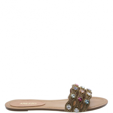 Chinelo Suede Colors Light Tan   Arezzo