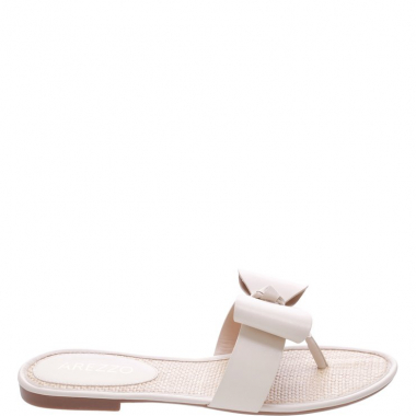 Chinelo Tira Big Bow Off White | Arezzo