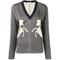 Chloé Horse Embroidered Sweater - Azul