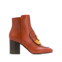 Chloé Mid-Heel C Ankle Boots - Marrom