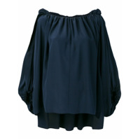 Chloé Ruched Loose Top - Azul