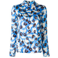 Christian Wijnants Floral Print Long Sleeve Top - Azul