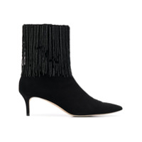 Christopher Kane Ankle Boot Bordada - 1000 Black