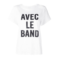 Cinq A Sept Camiseta 'with The Band' - Branco