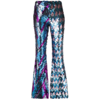 Circus Hotel Embellished Flared Trousers - Azul