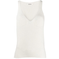 Circus Hotel Ribbed Knit Tank Top - Branco