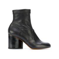 Clergerie Ankle Boot De Couro 'koss' - Preto