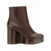Clergerie Belen Wedge Ankle Boots - Marrom