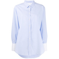 Closed Buttoned Loose Shirt - Azul
