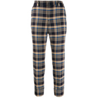 Closed Check Cropped Trousers - Azul