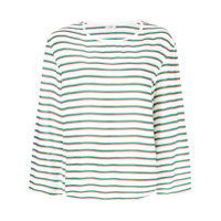 Closed Striped Top - Branco