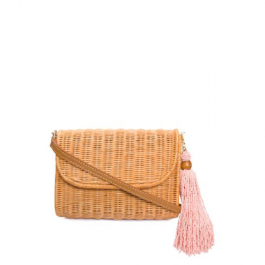 Clutch De Palha Honey Serpui - Bege