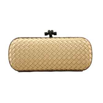 Clutch Elongated Knot Champagne