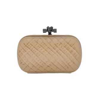 Clutch Knot Nude Couro