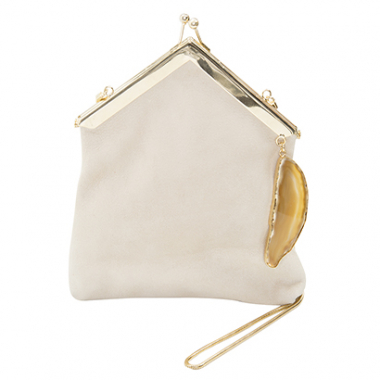 Clutch Maxi Off White Von Gaw