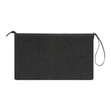 Clutch Palha Black