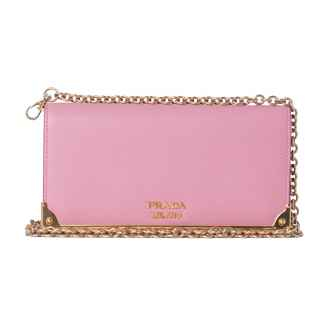 Clutch Saffiano Metal Wallet Rosa