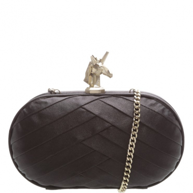 Clutch Unicorn Satin Preto | Schutz