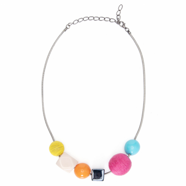 Colar Feminino Mix Color - Prata
