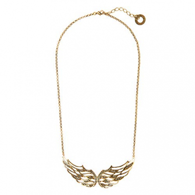 Colar Ícaro Maxi Colar New Wings Double Slim - Ouro Vintage