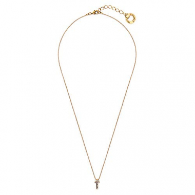Colar Small Word T - Ouro Vintage