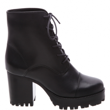 Combat Boot Block Heel Black | Schutz
