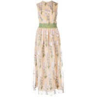 Costarellos Floral Embroidered Maxi Dress - Neutro