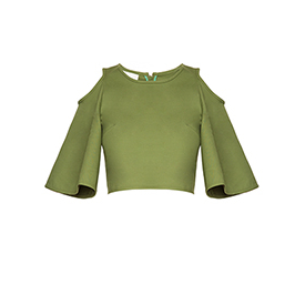 Cropped Ombros Sail Green Framed