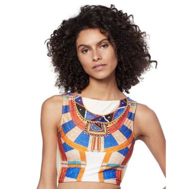 Cropped Regata África Off White Comercial P