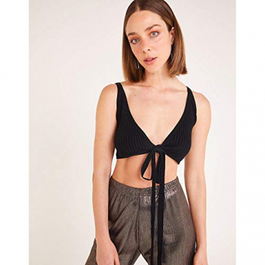 Cropped Tricot Amarracao-Preto-Pp