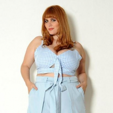 Cropped Vintage & Cats Plus Size Vichy-Feminino