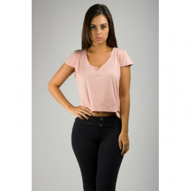 Cropped Visco Lisa Manga Copinho Banna Hanna-Feminino