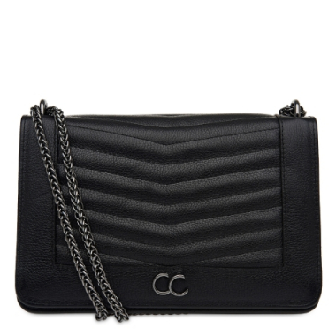 Crossbody Matelassê Geometric Correntes