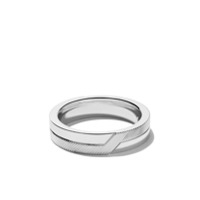 De Beers Anel 'promise Hal Textured' De Ouro Branco 18K - White Gold