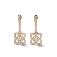 De Beers Par De Brincos Enchanted Lotus De Ouro 18Kt Com Diamantes - Yellow Gold