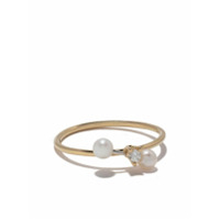 Delfina Delettrez 18Kt Yellow And White Two In One Diamond And Pearl Ring - Gold/silver