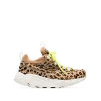 Diemme Brown Monte Grappa Leopard Print Ponyskin Sneakers - Marrom