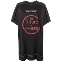 Diesel Camiseta Oversized The Future Is Here - Preto