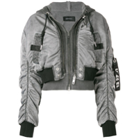 Diesel Jaqueta Bomber Cropped - Cinza