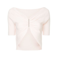 Dion Lee Blusa Cropped - Rosa