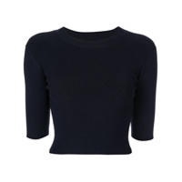 Dion Lee Camiseta Cropped - Azul
