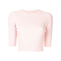 Dion Lee Camiseta Cropped - Rosa