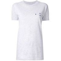 Dion Lee Camiseta Double Code - Cinza