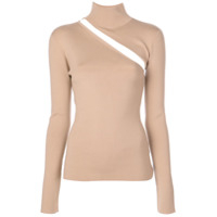 Dion Lee Lingerie Hook Knitted Top - Marrom