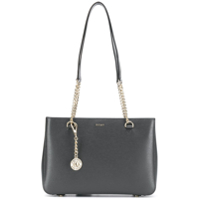 Dkny Chain Straps Shoulder Bag - Cinza