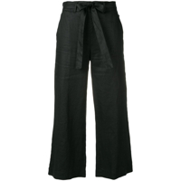 Dkny Cropped Wide Leg Trousers - Preto