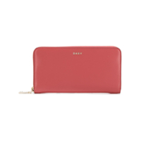 Dkny Logo Zipped Wallet - Rosa