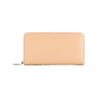 Dkny Zipped Logo Wallet - Neutro